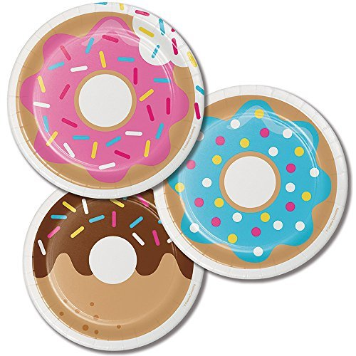 Childrens Baking Donut Birthday Party Dessert Plates 24ct ()