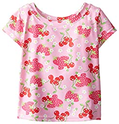 i play. Toddler Girls\' Cap Sleeve Rashguard Shirt, Pink, 3T
