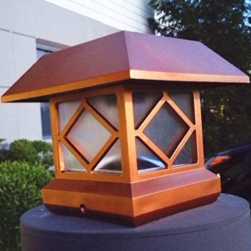 Outdoor Lamp Post Amazon: Solar Light,Post Cap Lights 4 X 4 Plus,Super Bright 10