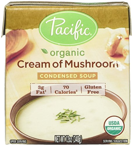 Pacific Natural Foods Organic Cream of Mushroom Condensed Soup, 12 oz. (Pack of ()