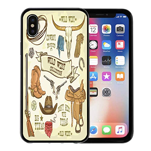 Emvency Phone Case for Apple iPhone Xs case,Western