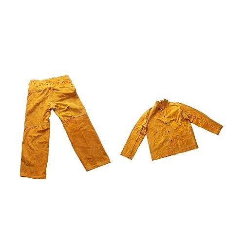 SM SunniMix Ropa Protectora Abrigo con Pantalones Soldadura Eléctrica Visualización Rápida Larga Vida Útil