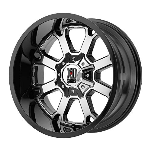 20x12 KMC XD Offroad Series XD825 Buck 25 8x180-44 Offset (4.77 inch backspace) 124.2 Hub - PVD Center Gloss Black Lip - XD82521288944N [ ✅ Authorized Dealer]
