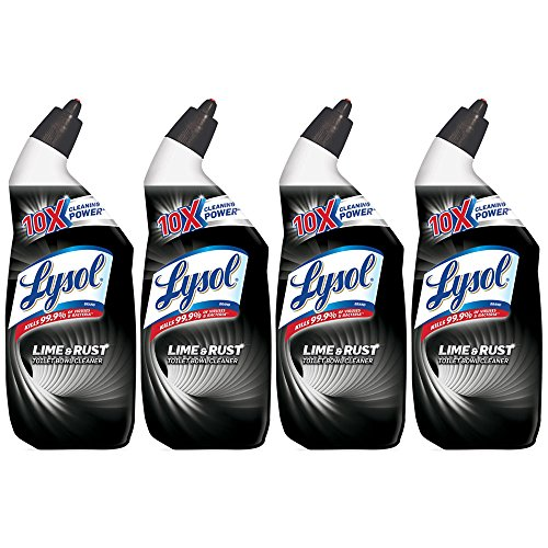 Lysol Toilet Bowl Cleaner with Lime and Rust Remover, 24 oz (Pack of 4)