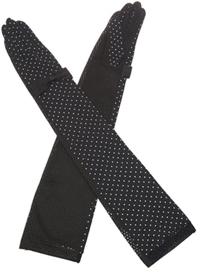Kenmont Guantes Largos de Verano para Mujer, 100% algodón ...