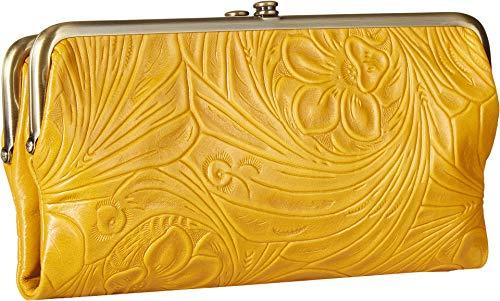 Embossed Vintage Amber HOBO Lauren Wallet qYvwxHU