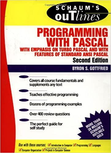 Schaums Outline of Programming with Pascal: With Emphasis on Turbo PASCAL and with Features of Standard ANSI PASCAL Schaums Outline Series: Amazon.es: ...
