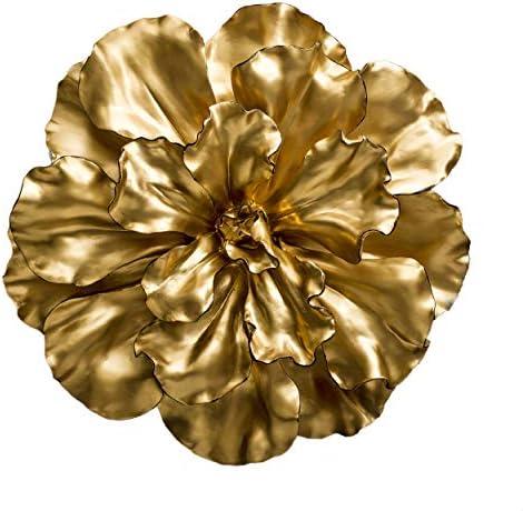 Fredrik Lorenz Original Wall Flower Large and Bold Luxury Flower Wall Decor, Wall Accent Gold
