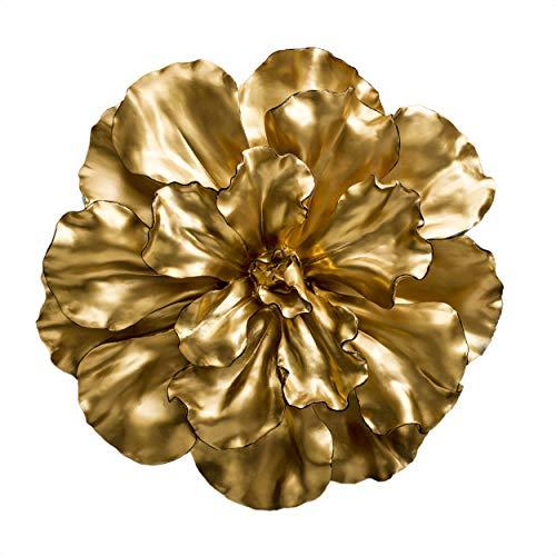 Fredrik Lorenz Original Wall Flower: Large and Bold Luxury Flower Wall Decor, Wall Accent (Gold)