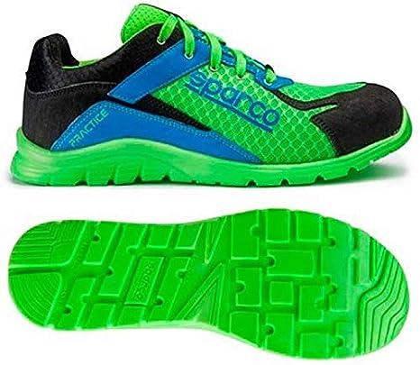 Sparco 0751742VFAZ Zapatillas, Verde/Azul, 42: Amazon.es: Coche y moto