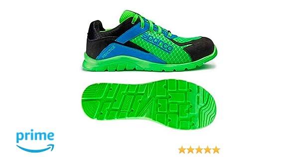 Sparco 0751742VFAZ Zapatillas Verde Azul 42  Amazon.es  Coche y moto e703e14f80b