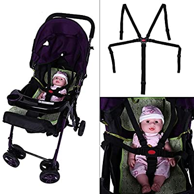 Baby Universal Adjustable Safety Strap Infant 5 Points Security Harness Belt for Toddler Child Stroller High Chair Pram