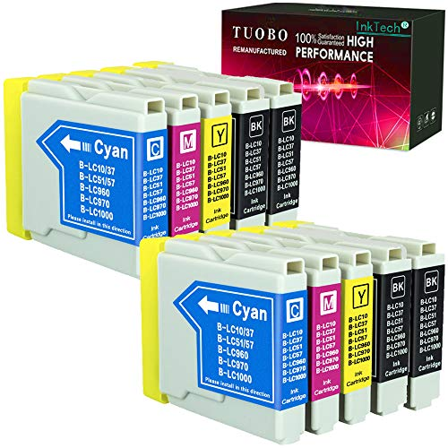 Tuobo 10 Compatible Ink Cartridge Replacement for Brother LC51 LC 51 LC-51 to use with DCP 130C 330C 540CN MFC 230C 3360C 5460CN IntelliFax 1360