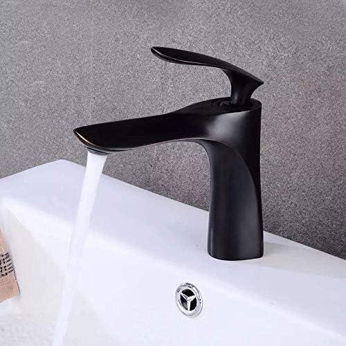 ZJN-JN 蛇口 美しく、耐久性のあるブラックブロンズ滝アンティーク洗面真鍮ホットとコールドの下でカウンター盆地レトロ盆地アメリカの蛇口 台付