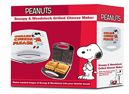 Smart Planet SGCM‐2 Peanuts Snoopy and Woodstock Grilled Cheese Sandwich Maker, White by Smart Planet (Image #4)