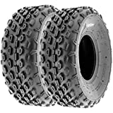 SunF 145/70-6 145/70x6 ATV UTV A/T Golf Cart Race Replacement 6 PR Tubeless Tires A015, [Set of 2]