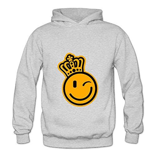 Lennakay Work Woman's Smiley King Pullover Hoodie Ash - Strike Jacket King