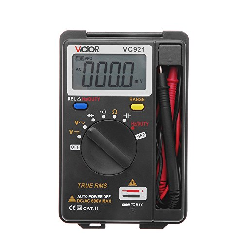 Multimeter, KKmoon VC921 Pocket Digital Multimeter Multi Tester AC DC Voltage DC Current Resistance Diodes Capacitance Transistor Auto Range Data Hold Function
