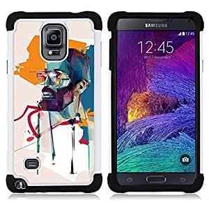 GIFT CHOICE / Defensor Cubierta de protección completa Flexible TPU Silicona + Duro PC Estuche protector Cáscara Funda Caso / Combo Case for Samsung Galaxy Note 4 SM-N910 // learner //