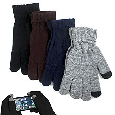 1 Pair Magic Stretch Gloves Smartphone Texting Touch Screen One Size Insulated