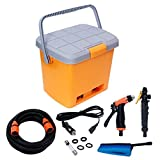 HPK Car Portable Pressure Washers 16 Ltr + 6 meter hose + 3 meter socket cable wire and accessories