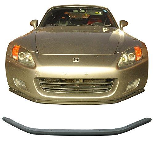 Front Bumper Lip Fits 2000-2003 Honda S2000 | Aero Style Front Under Bumper Lip Spoiler Splitter Unpainted Black PU Poly Urethane by IKON MOTORSPORTS | 2001 (Honda S2000 Front Bumper)