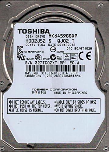 "TOSHIBA 640GB MK6459GSXP SATA 5400RPM 2.5/"" HARD DRIVE NEW"