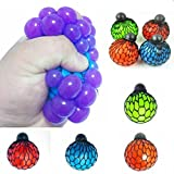 6cm Stress Relief Squeeze Grape Vent Ball Toy Soft Rubber Hand Toy Random Color--1 Pcs