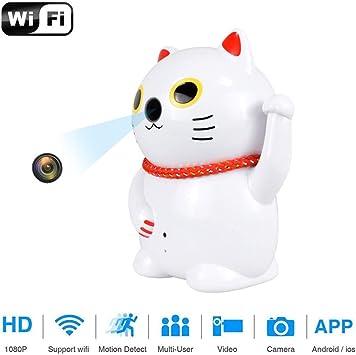 Balscw-J Cámara espía de Gato, cámara Oculta 1080P HD para la Seguridad del hogar Nanny CAM visión Nocturna y conversación de Audio: Amazon.es: Electrónica