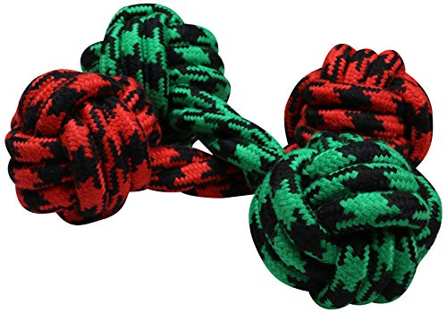 - Coleman Durable Double Knot Rope Dog Chew Toy (2 Pack), Green/Red, Size 12'