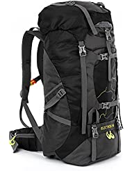 OUTLIFE Hiking Backpack 60L Lightweight Water Reasistant Trekking Bag Durable Outdoor Sport Daypack for Climbing...