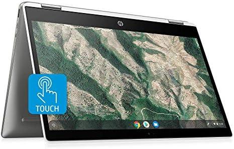 HP Chromebook X360 14-Inch HD Touchscreen Laptop, Intel Celeron N4000, 4 GB RAM, 32 GB eMMC, Chrome (14b-ca0010nr, Ceramic White/Mineral Silver) (Renewed)