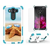 LG V10 Case, V10 Case, Beyond CellHigh Impact Armor Hybrid Rugged Durable Phone Case With Built in kickstand-Sea Star Sun Glasses-FREE Screen Protector