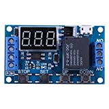 Trigger Delay On Off Cycle Timer, Relay Switch Module w/Digit LED Display Micro USB 5V