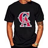 Anaheim Angels T-shirt Black for Men cotton