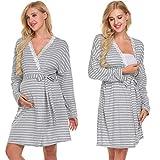 Ekouaer Womens Maternity Pregnancy Labor Robe Delivery Nursing Nightgowns Hospital Breastfeeding