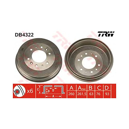 TRW DB4322 Brake Drums: