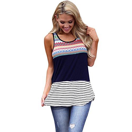 SERYU Women Ladies O Neck T-Shirt Sleeveless Casual Tops Blouse Vest ()