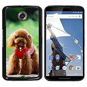 LECELL -- Funda protectora / Cubierta / Piel For Motorola NEXUS 6 / X / Moto X Pro -- Cute Poodle Dog --