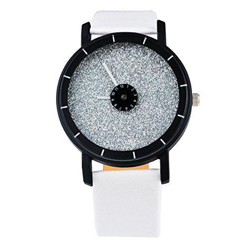 Mujer Blanco minimalismo Diseño reloj de pulsera sin graduación Quartz Reloj analógico