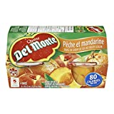 Del Monte Peach and Mandarin 4 x 112ml (Pack of 6)