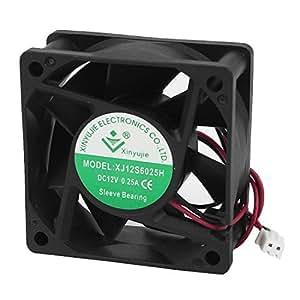 DC 12V campamentos Desktop PC Tower Case CPU Cooling Fan 60x 25mm