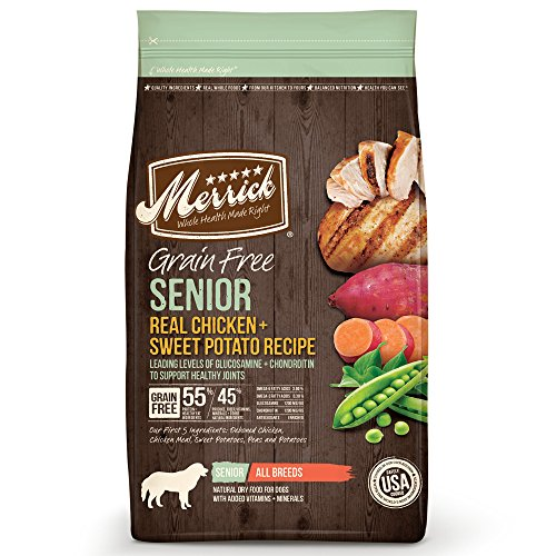 Merrick Grain Free Chicken & Sweet Potato Dry Dog Food, 25 lbs.