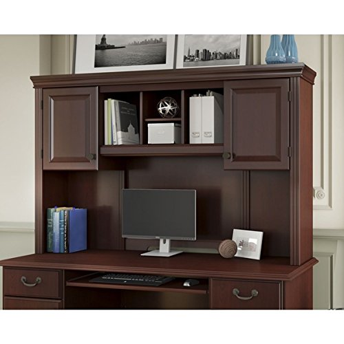 Kathy Ireland Modern Desk (Modern Kathy Ireland Office by Bush Business Furniture Bennington Hutch, Cherry Finish )