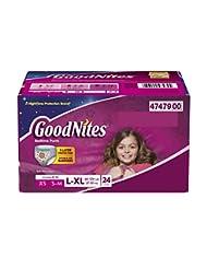 GoodNites Bedtime Bedwetting Underwear for Girls, L-XL, 24 Ct...