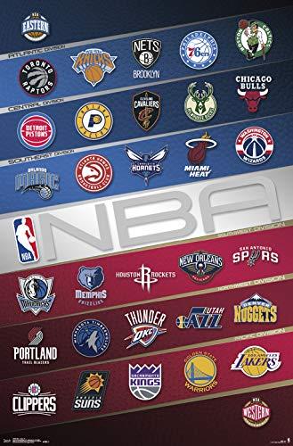 (Trends International NBA-Logos Clip Bundle Wall Poster, 22.375