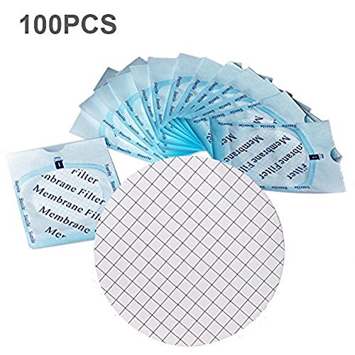 100 X MCE Gridded Membrane Filter, Sterile, Hydrophilic, Diameter:47mm, Pore:0.45um (Filters Mce)