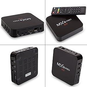 [2018 Version]Streaming Player MXQ Pro HDTV Box UHD 4K Android 6.0 64 Bit Amlogic S905X Quad Core with Mini Wireless Keyboard