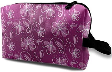 赤紫 白線 化粧ポーチ メイクポーチ コスメポーチ 小物入れ 洗面用具 化粧品収納 トイレタリーバッグ 吊り下げ コンパクト 大容量 普段使い 出張 旅行 かわいい おしゃれ プレゼント