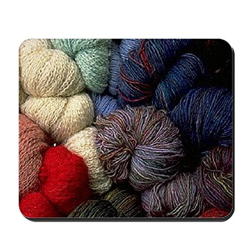 CafePress - Yarn Lover's - Non-slip Rubber Mousepad, Gaming Mouse - Gibson Optical